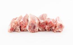 Raw pork ribs on white background. Raw pork short ribs on white background Royalty Free Stock Photos