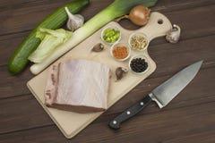 Raw pork roast. Royalty Free Stock Photos
