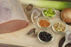 Raw pork roast. Stock Images