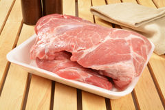 Raw pork roast Royalty Free Stock Image