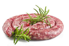 Raw pork sausage royalty free stock photos