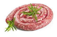 Raw pork sausage Royalty Free Stock Photography