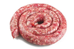 Raw pork sausage Royalty Free Stock Photo