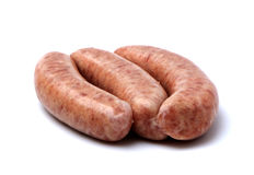 Raw Pork Sausage Royalty Free Stock Images