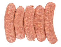Raw pork sausages Stock Photography