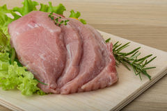 Free Raw Pork Schnitzel Stock Images - 46935104