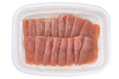 Raw pork slices Stock Image