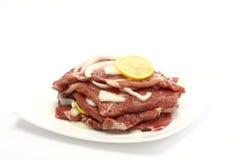 Raw pork steak Stock Photo