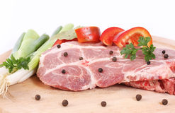 Raw pork steak Royalty Free Stock Photos