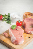 Raw pork, steak, cutlet. Stock Photo