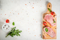 Raw pork, steak, cutlet. Stock Photography