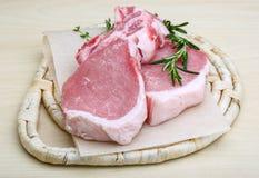 Raw pork steak Stock Image