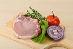 Raw pork steak Stock Photos