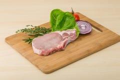 Raw pork steak Royalty Free Stock Photography