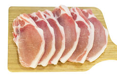 Raw pork steaks Royalty Free Stock Images