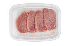 Raw pork steaks Stock Photos