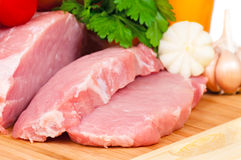 Pork steaks Stock Image