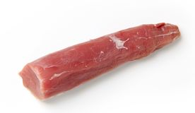 Raw pork tenderloin Royalty Free Stock Photos