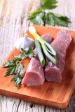Raw pork tenderloin Stock Photos