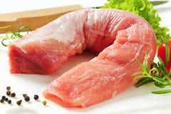 Raw pork tenderloin Royalty Free Stock Image