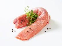 Raw pork tenderloin. Studio shot royalty free stock images
