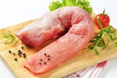 Raw pork tenderloin Stock Images