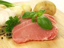 Raw pork with vegatables Stock Photo