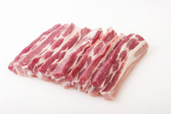 Raw pork in white background. Close up Royalty Free Stock Photography