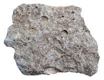 Raw porous basalt stone isolated Stock Photo