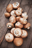 Raw portabello mushrooms Royalty Free Stock Photo
