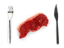 Raw Porterhouse Steak. Porterhouse steak isolated against a white background Stock Images