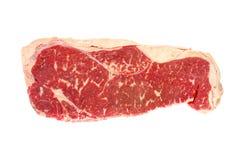 Raw Porterhouse Steak. Raw grain-fed porterhouse steak, isolated on white Stock Photography