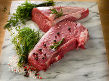 Raw porterhouse and tenderloin Stock Image