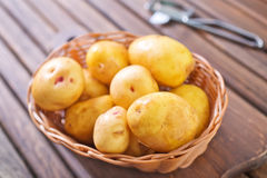 Raw potato Stock Photos