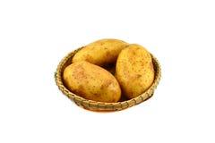Raw Potato in basket Royalty Free Stock Photo