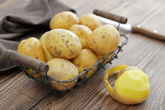 Raw potato food Royalty Free Stock Images