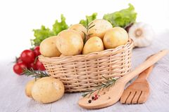 Raw potato and ingredient Stock Images