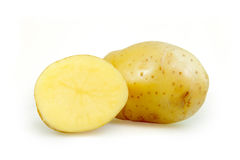 Raw potato isolated on white Royalty Free Stock Photography