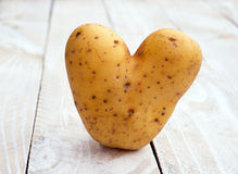 Raw Potato in the Shape of a Heart Royalty Free Stock Photo