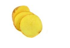 Raw Potato and Sliced Potato Stock Photos