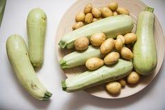 Raw potato and squash Royalty Free Stock Photos