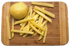 Raw potatoes Stock Photography