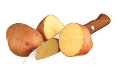 Raw potatoes Stock Images