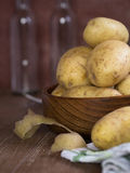 Raw potatoes Royalty Free Stock Image