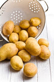 Raw potatoes in colander Stock Photos