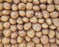 Raw potatoes for sale Royalty Free Stock Images