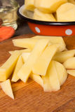Raw potatoes Royalty Free Stock Images