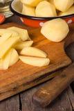 Raw potatoes Stock Photos