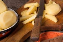 Raw potatoes Stock Image