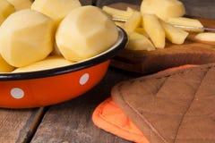 Raw potatoes Royalty Free Stock Photography